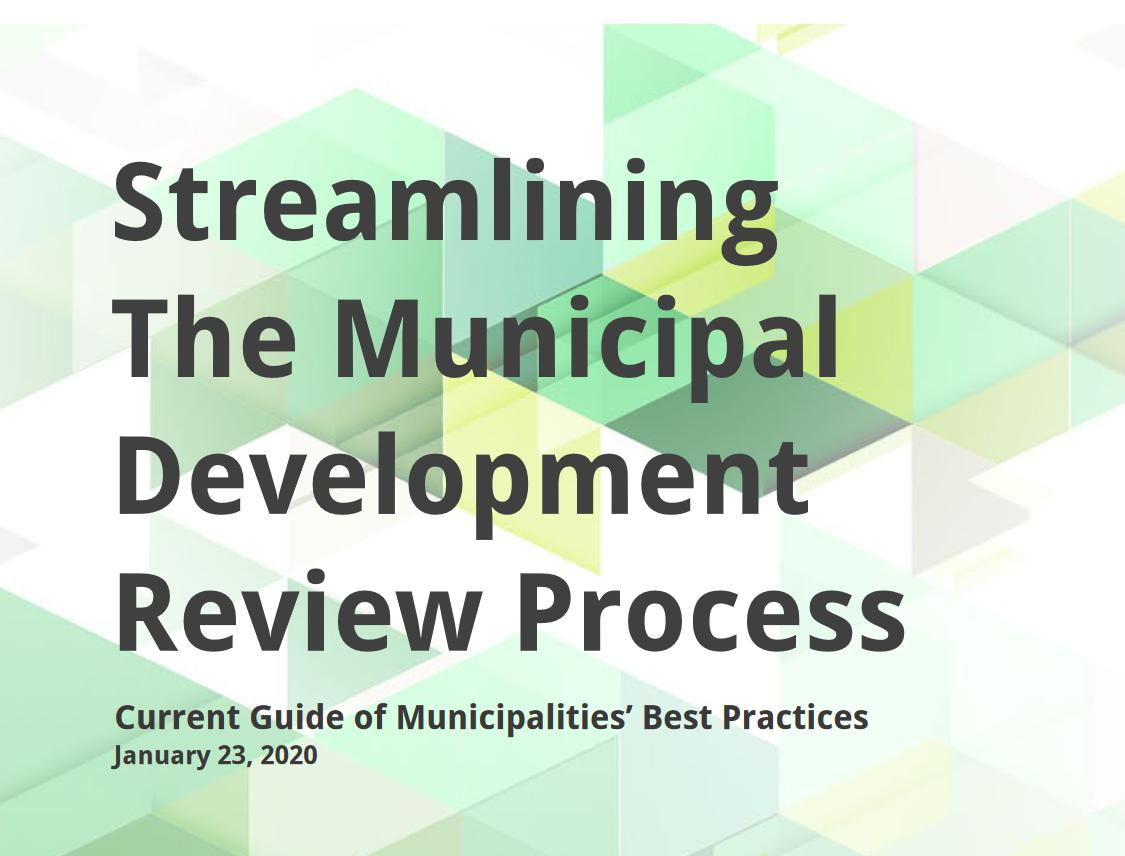Image of cover of Streamlining report