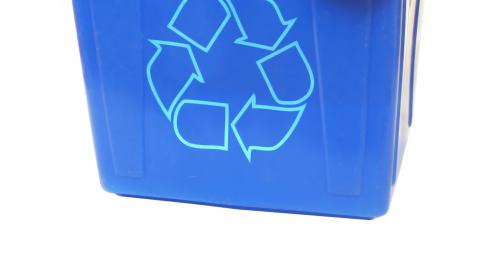 image of a blue box